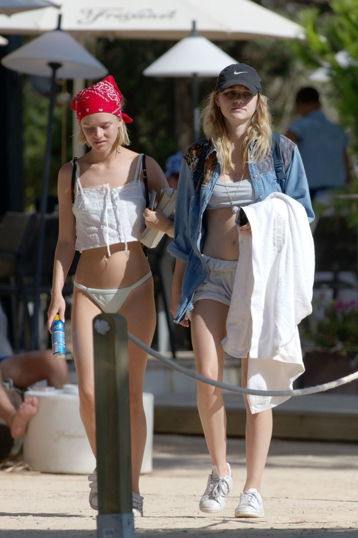 Immy Waterhouse With a friend seen enjoying a holiday in Ibiza