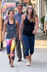 Lara Trump Out jogging with a friend and secret service protecting her while showing her belly bump in Central Park New York City
