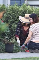 Lucy Hale On the set of