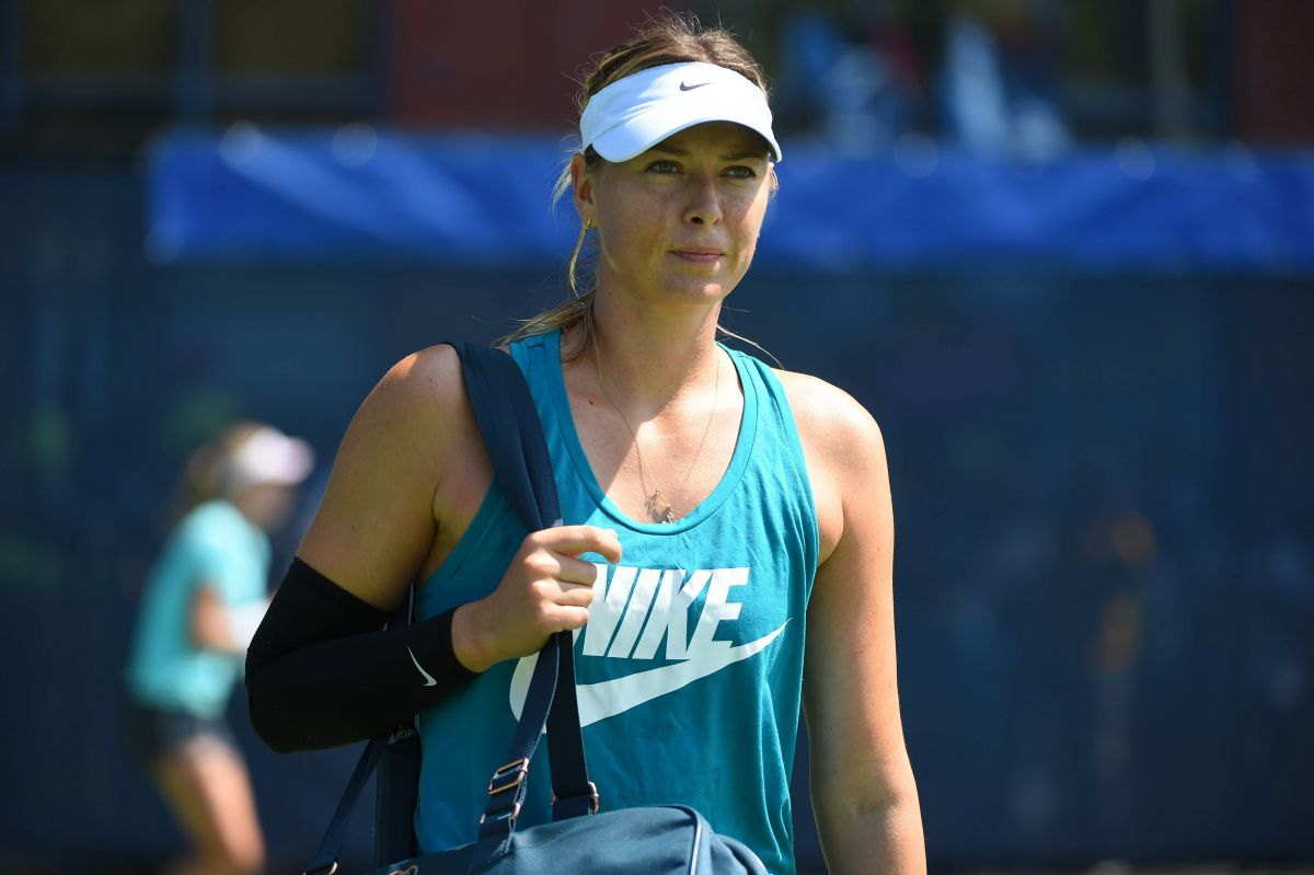 Maria Sharapova During Arthur Ashe presents Kids Day at the US