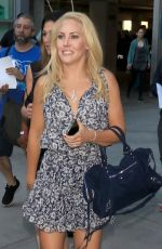 Mercedes McNab Smiles for photos outside of Craig