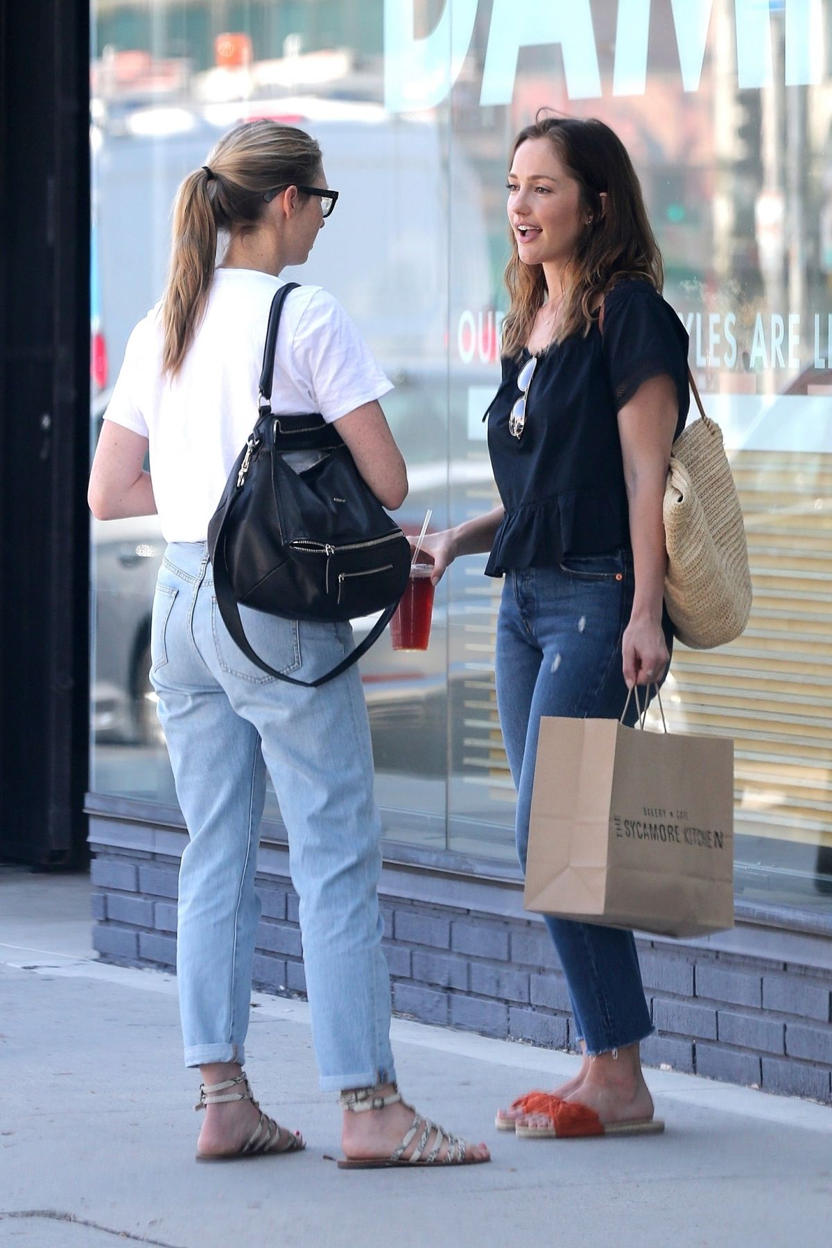 Minka Kelly Catches up with a grilfriend over lunch at Sycamore ...