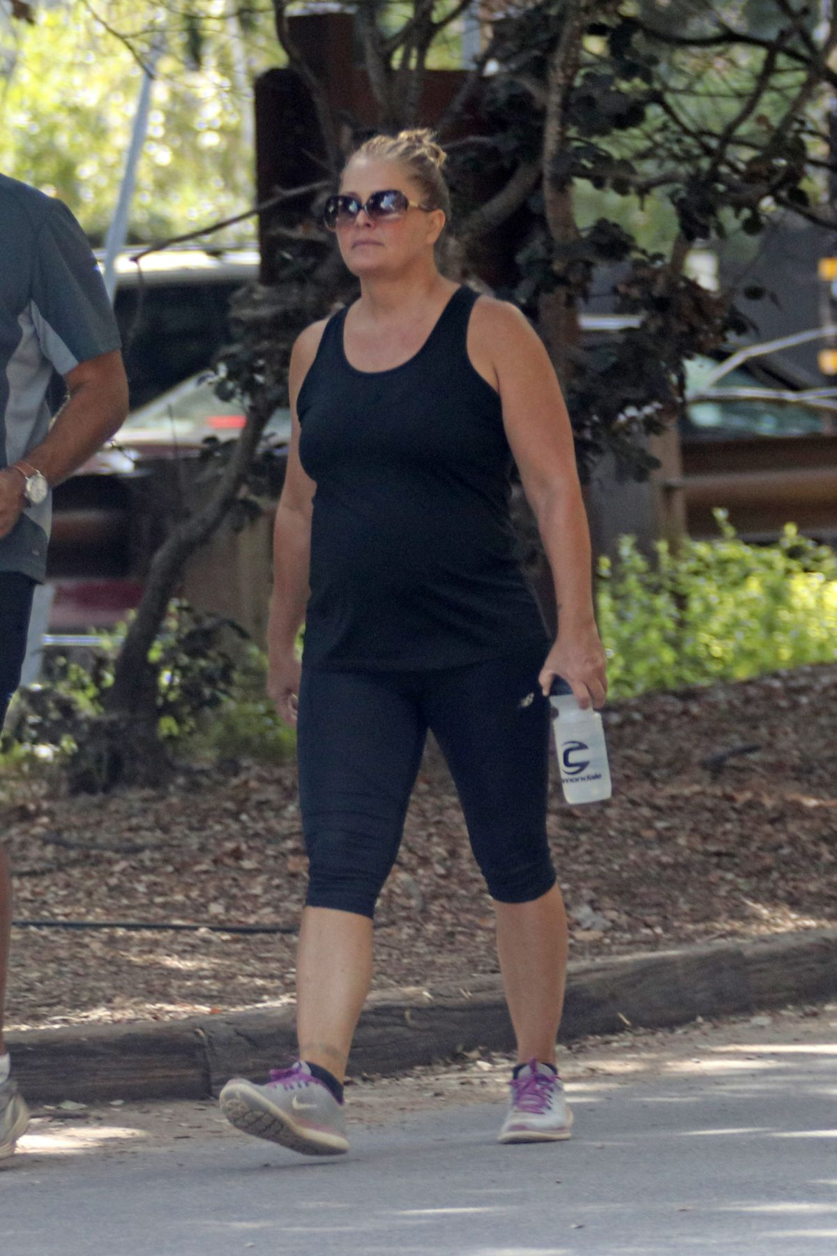 Nicole Eggert Was out hiking with a male friend at Fryman Canyon