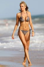 Olivia Attwood In leopard print bikini whilst on holiday in Portugal
