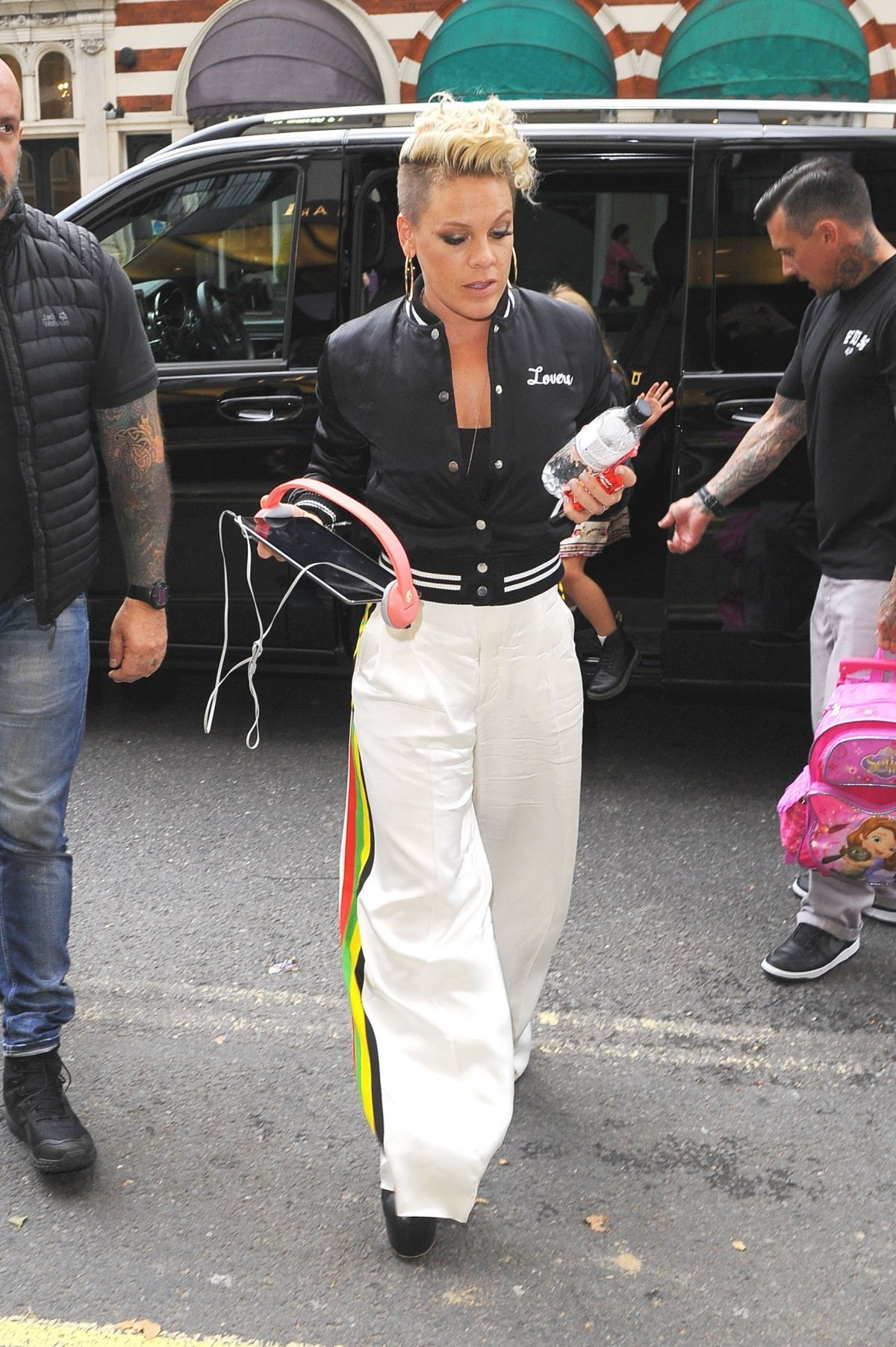 Pink Is seen at her hotel in London