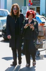Sharon Osbourne and Ozzy Osbourne Do some grocery shopping at Bristol Farms in West Hollywood