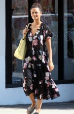 Thandie Newton Leaves Republic restaurant before going shopping in Hollywood