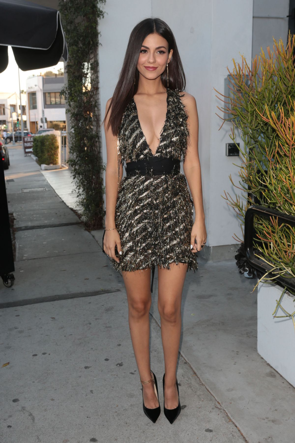 Victoria Justice At Harper's BAZAAR party in West Hollywood ...