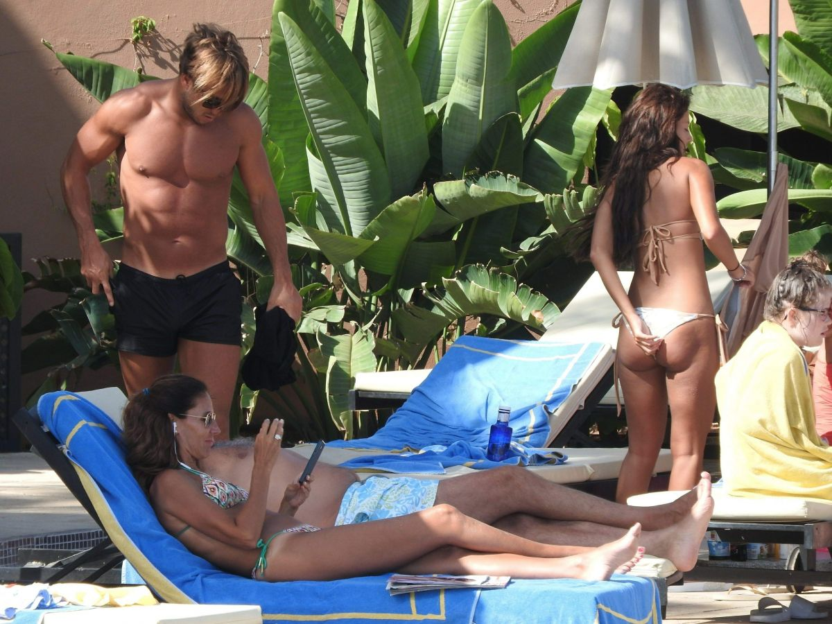 Yazmin Oukhellou At the pool of her hotel in Marbella   yazmin-oukhellou-at-the-pool-of-her-hotel-in-marbella-_10