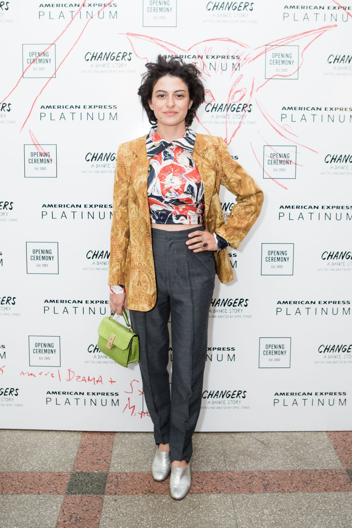 Alia Shawkat At Opening Ceremony show, Front Row, Spring Summer 2018, New York Fashion Week