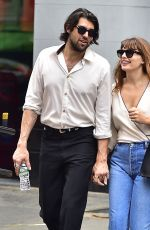 Alyssa Miller Is seen with her new boyfriend enjoying a nice walk in Soho, New York City