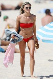 Amy Pejkovic Pictured on the beach in Sydney