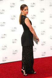 Anna Chlumsky At Metropolitan Opera Opening Night in New York