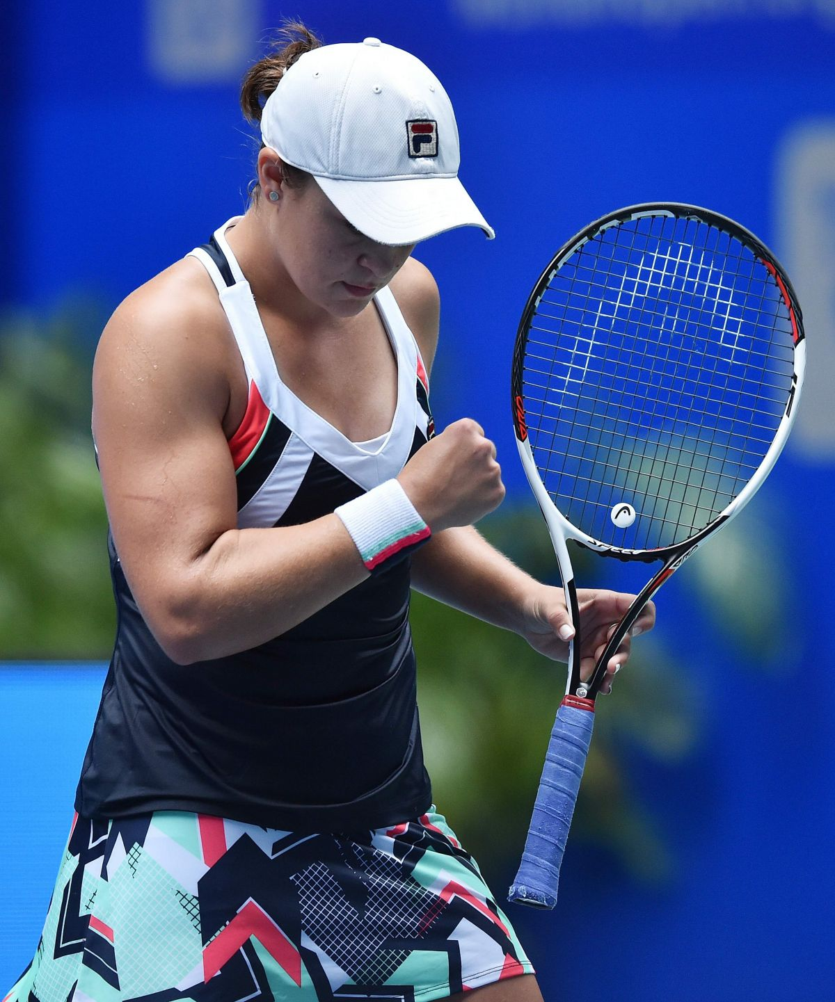Ashleigh Barty: Ashleigh Barty During Day Six At 2017 WTA Wuhan Open In