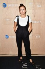 Bel Powley At Celebrity and Tastemaker lunch, TIFF Momofuku Noodle Bar Toronto presented by DIRECTV, Day 2, Canada