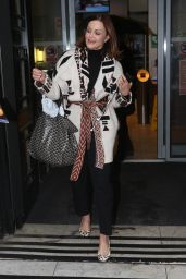 Belinda Carlisle Leaves Wogan House after an appearance on the Chris Evans show, London