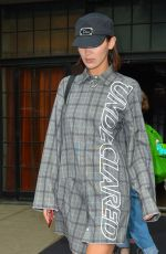 Bella Hadid Steps out wearing an Undeclared dress in NYC