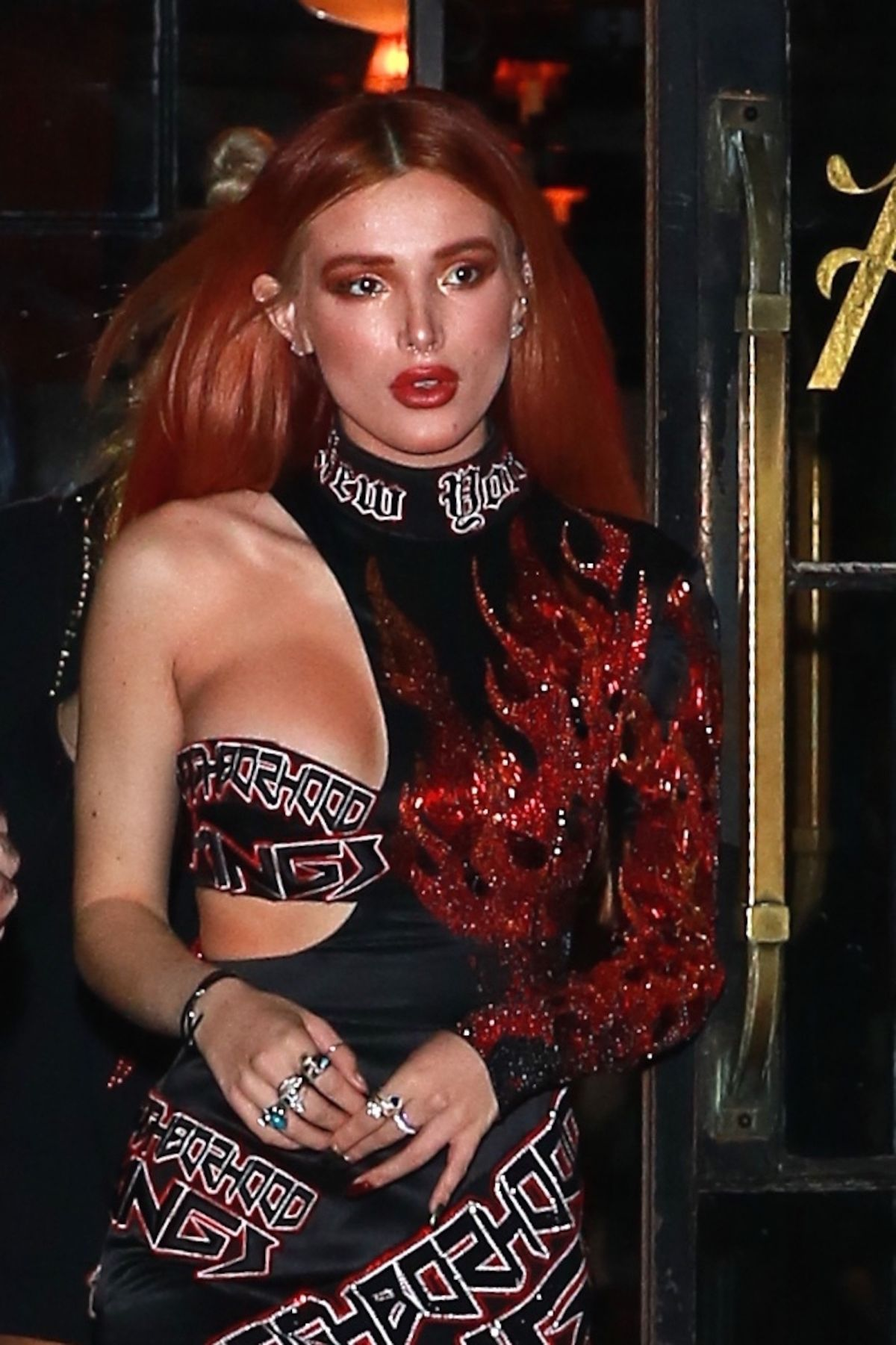 Bella Thorne At night out in NYC