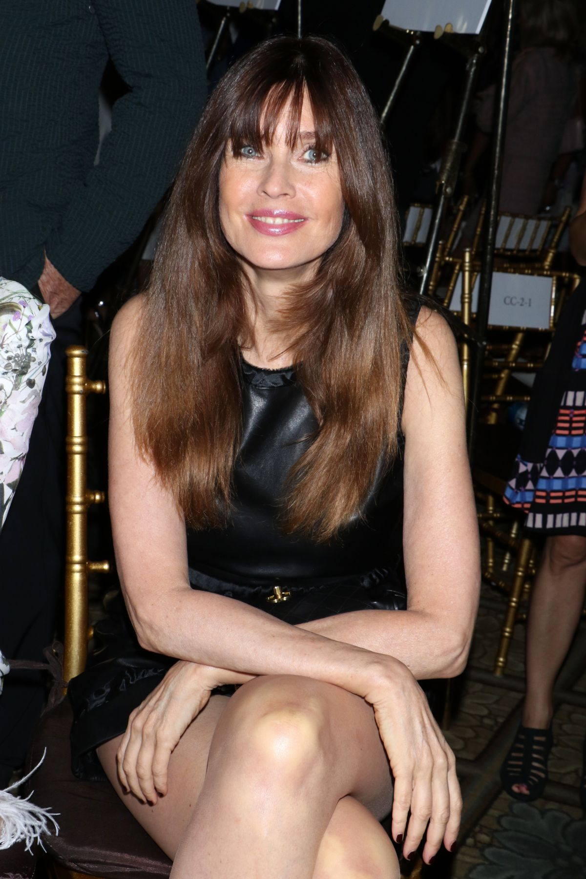 Carol Alt At Dennis Basso show, Front Row, Spring Summer 2018, New York Fashion Week