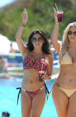 Casey Batchelor and Frankie Essex On holiday in Spain