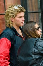 Courtney Love and Jordan Barrett hang out in New York City