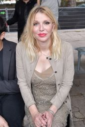 Courtney Love At Rick Owens show, Front Row, Spring Summer 2018, Paris Fashion Week, France