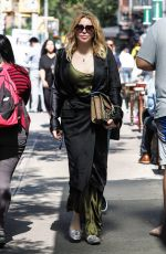 Courtney Love Walks in Manhattan in New York City