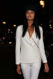 Daniela Braga Is seen out and about during the Spring Summer 2018 Paris Fashion Week in Paris