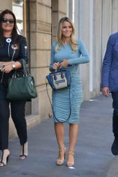 Diletta Leotta Walking in Milan