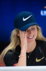 Elina Svitolina At press conference at US Open Tennis Championships, Day 6 in New York City