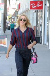 Emma Slater Shows off her attractive smile on her way to the dance studio in Los Angeles