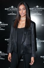 Gizele Oliveira At Moet & Chandon by Public School launch celebration, Fulton Market, Spring Summer 2018, New York Fashion Week