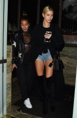 Hailey Baldwin Enjoys a night out at Sexy Fish restaurant in Mayfair, London, UK