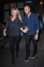 Hannah Davis Out and about with Derek Jeter in New York