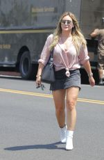 Hilary Duff Leaving a salon in West Hollywood