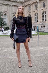 Ilona Smet At Lanvin show, Front Row, Spring Summer 2018, Paris Fashion Week, France