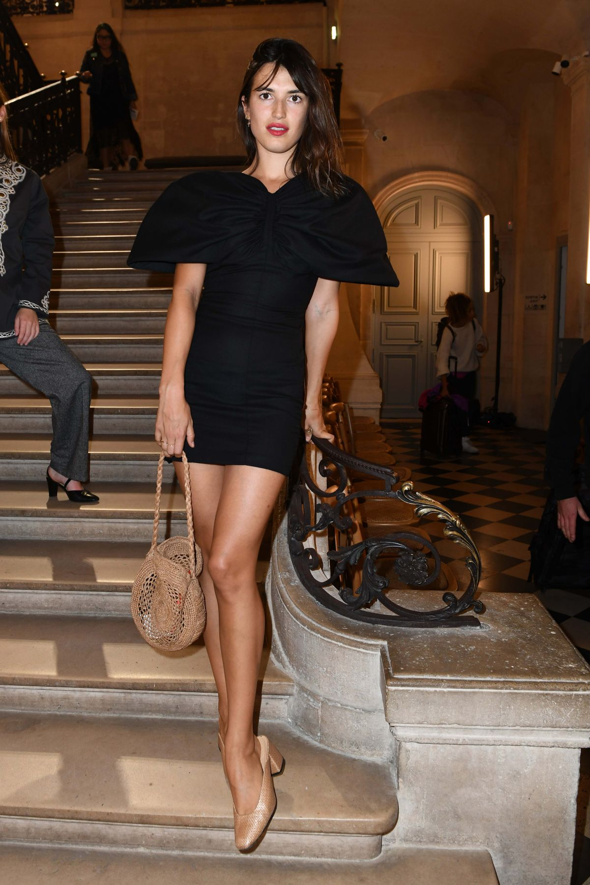 Jeanne Damas At Jacquemus Show Front Row Spring Summer 2018 Paris Fashion Week France