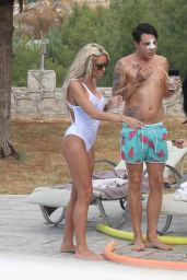 Jemma Lucy and Charlie Doherty On holiday in Turkey