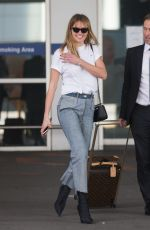Jesinta Franklin Arrives into Melbourne airport after traveling back from New York City