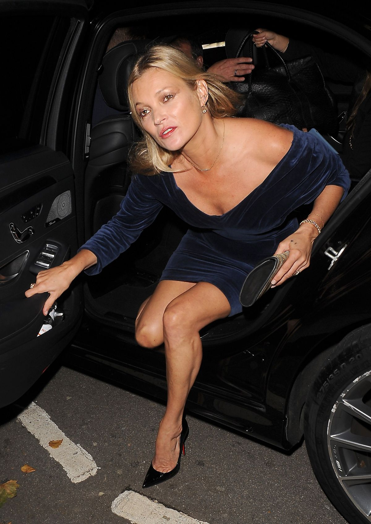 Kate Moss Seen Arriving At Private Members Club Annabels In London