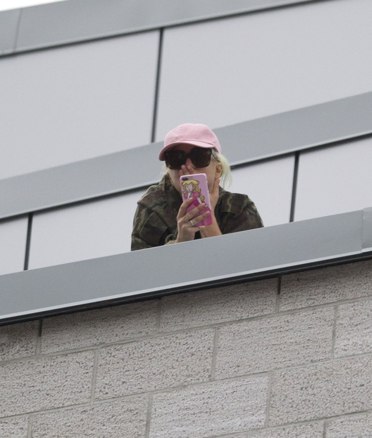 Lady Gaga Spotted on a Rooftop in Montreal, Canada