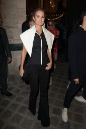 Laeticia Hallyday At Jacquemus show, Front Row, Spring Summer 2018, Paris Fashion Week, France