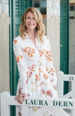 Laura Dern At Photocall in front of her dedicated beach locker room with at the 43rd Deauville American Film Festival in Deauville