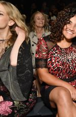 Laurie Hernandez At Tadashi Shoji fashion show during New York Fashion Week