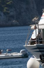 Lily James and Jeremy Irvine On set of Mamma Mia 2 in Croatia
