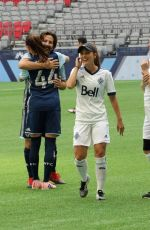 Lindsey Morgan At Whitecaps Charity soccer game benefiting the BC Childrens Hospital, Vancouver