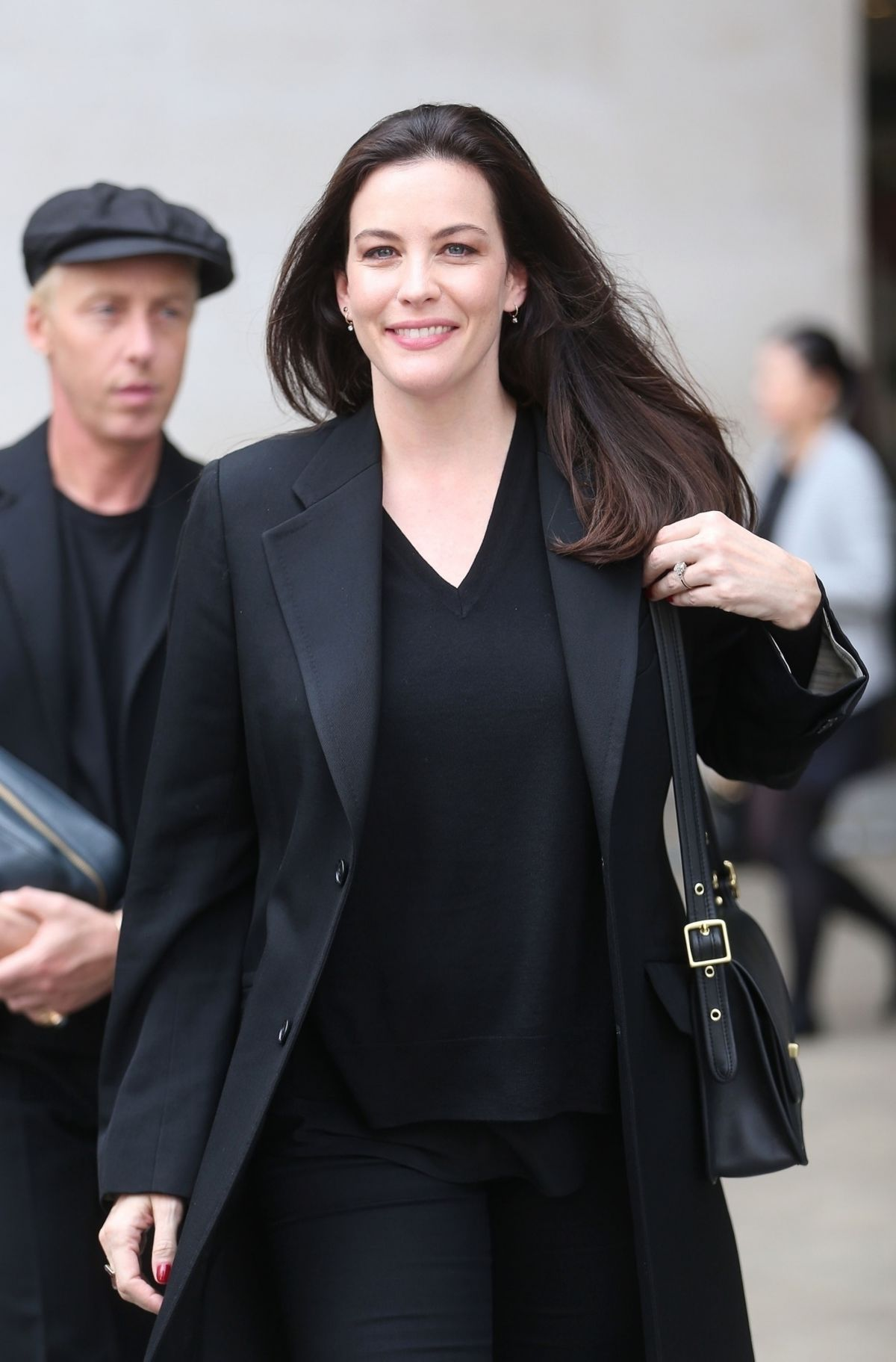 Liv Tyler Leaves the BBC Broadcasting House in London ...