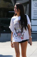 Madison Beer Stops for gas after lunch in LA