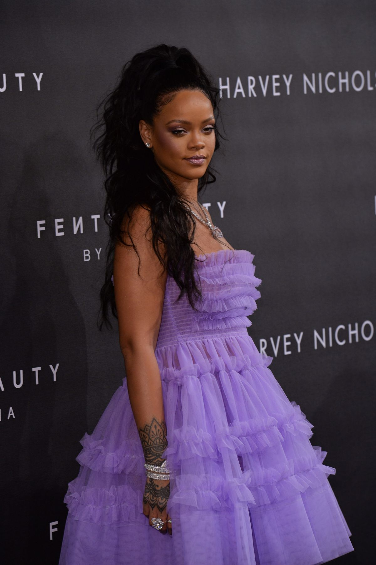 Beauty Launch The Mac Punk Couture Collection: Rihanna At Fenty Beauty Launch Party In London, UK