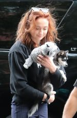 Sophie Turner Out and about with her adorable puppy in NYC